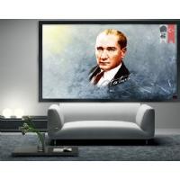 10 Atatürk Siyah Çerçeveli Kanvas Tablo