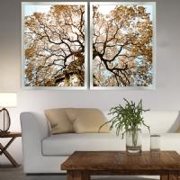 2 Lİ Kombin Sim İşlemeli Ağaç Çerçeveli Tablo