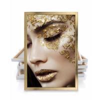 Zarif Kadın Gold Renk Kadın Çerçeveli Kanvas Tablo
