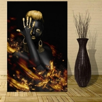 hippi kadın kanvas tablo