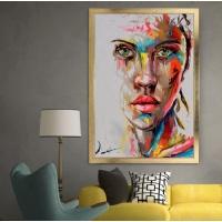 Renkli Yağlı Boya Görünümlü Çerçeveli Kanvas Tablo