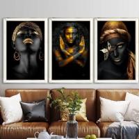 Afrikalı Kadınlar Ayna Çerçeveli Kanvas Tablo Seti