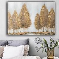 Ağaçlar Sim İşlemeli Kanvas Tablo