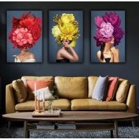 Çiçek Kadınlar Sim İşlemeli Tablo Set