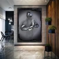 Simli Kanvas Dikdörtgen Tablo 3D Görünümlü Dua