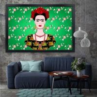 Frida Kahlo 2 Siyah Çerçeveli Kanvas Tablo