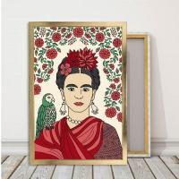 Frida Kahlo Çerçeveli Kanvas Tablo
