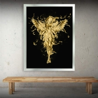 Gold Sim İşlemeli Melek Kanvas Tablo