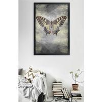 Kelebek Siyah Çerçeveli Kanvas Tablo