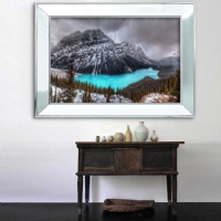 Ayna Çerçeveli Manzara Kanvas Tablo