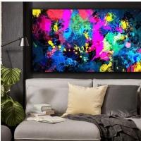 Sim İşlemeli Renkler Soyut Kanvas Tablo