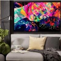 Sim İşlemeli Renkli Kadın Kanvas Tablo