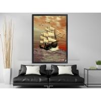 Simsiz Gemi Siyah Çerçeveli Kanvas Tablo