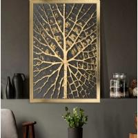 Ağaç Desen Çerçeveli Kanvas Tablo